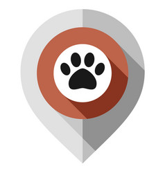 Map pin animal symbol gps pointer folded from vector