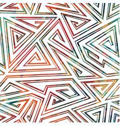 maze geometric seamless pattern vector image