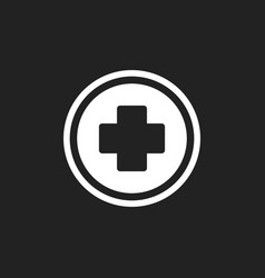 medical health icon medicine hospital plus sign vector image