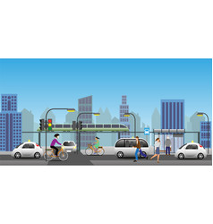 modern city transport view vector image