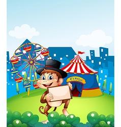 Monkey Circus Carnival vector
