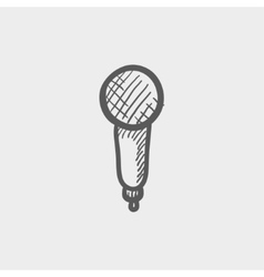 New microphone sketch icon vector image