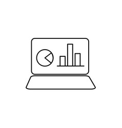 Notebook with chart icon vector