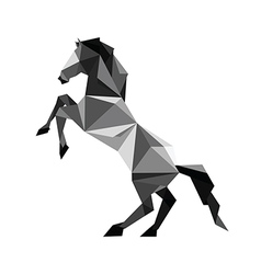 Origami black Horse vector image