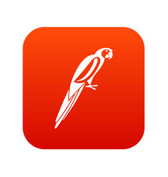 Parrot icon digital red vector