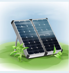 Portable solar panels vector