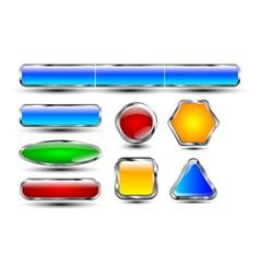 Reflective buttons chrome vector