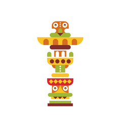 Religious totem native cultural tribal symbol vector
