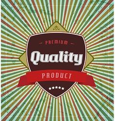 Retro vintage label on stripe background vector