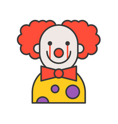 Scary clown halloween character icon outline vector
