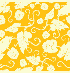 seamless pattern with the image of hop plant vector image