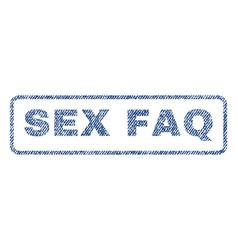 Sex faq textile stamp vector