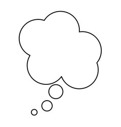 Silhouette cloud dialog box design vector