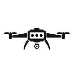 Smart drone icon simple style vector