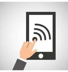 Smartphone app wifi social media icon vector