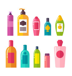 Sprays and shampoos poster set vector