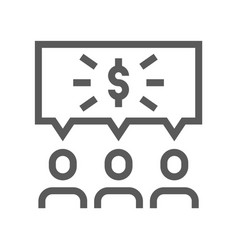 startup line icon vector image