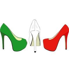 The Italian fashion industry vector