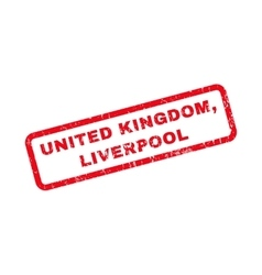 United kingdom liverpool rubber stamp vector