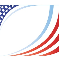 United states flag corner frame image vector