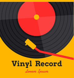 vinyl record music with vinyl record word vector image