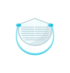 White Protecting Medical Face Mask Simplified Icon vector