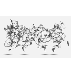 Abstract triangles space low poly White vector image vector image