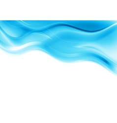 Blue smooth waves design vector image vector image