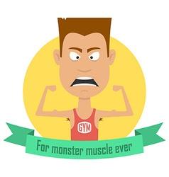 Cartoon bodybuilding men Gym fitness professional vector image