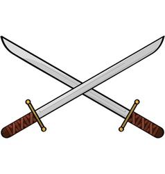cartoon swords vector image