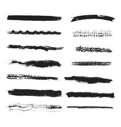 distress grunge stroke set vector image