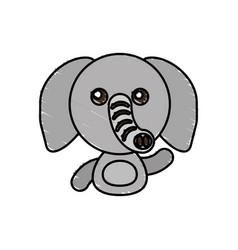 draw elephant animal comic vector image vector image
