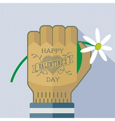 Happy Valentines Day tattoo greating card vector image