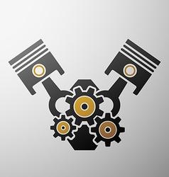 Logo engine Stock vector image vector image