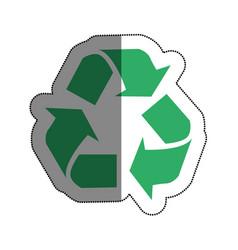 recycle arrows symbol icon vector image