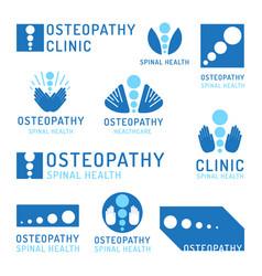 set logo osteopathy vector image