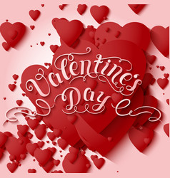 valentines day card elegant vector image vector image