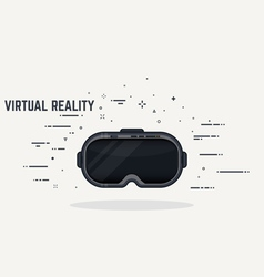 Virtual reality headset vector image