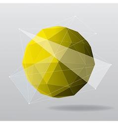 yellow globe modern geometrical background vector image vector image