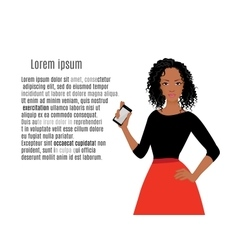 African girls with mobile phone vector image