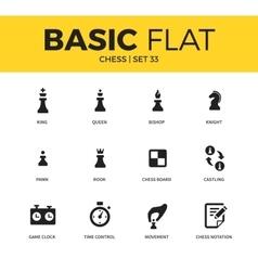 Basic set of chess icons vector image