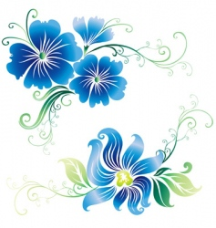 beautiful vintage ornate flowers vector image vector image