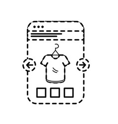 dotted shape smartphone website shopping the vector image vector image