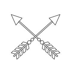 line rustic arrows with ornamental design vector image