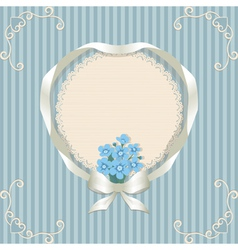 Retro background and forgetmenot vector image vector image
