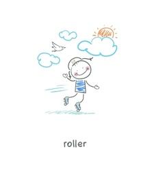 Roller vector image vector image
