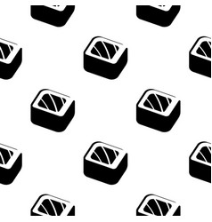 Sushi and rolls vintage seamless monochrome vector