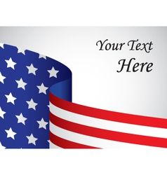 usa banner with copy space vector image