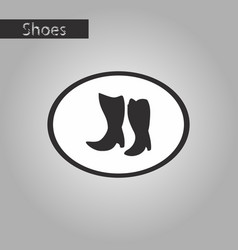 black and white style icon women boots with heels vector image