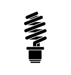 contour save energy light bulb vector image